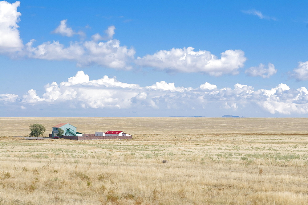 Farm in the steppe, Tamagaly Das, Kazakhstan, Central Asia