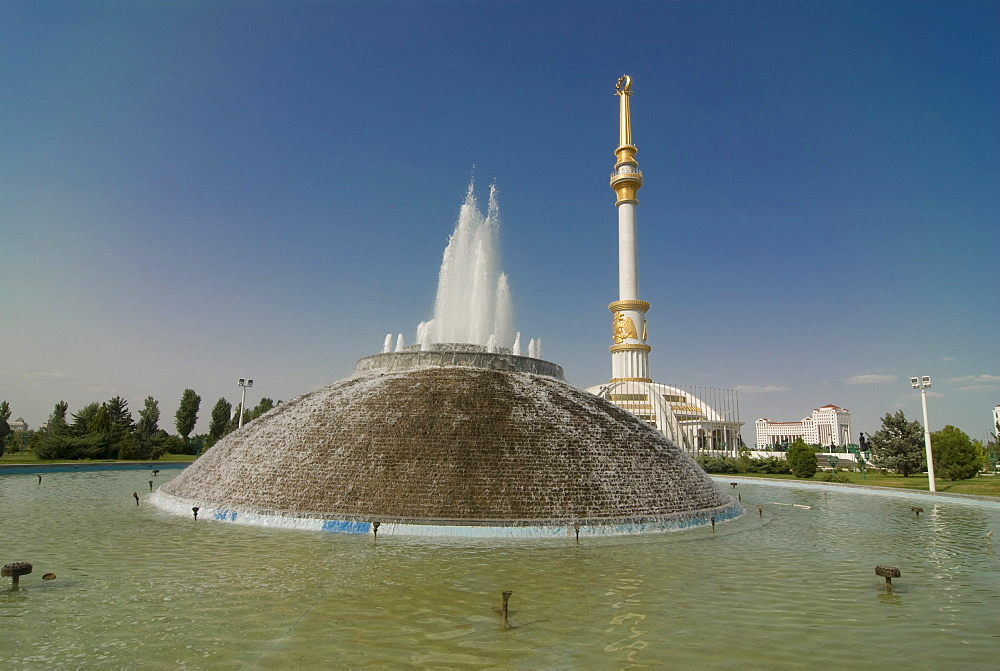 Independence Monument of Turkmenistan, Ashgabat, Turkmenistan, Central Asia