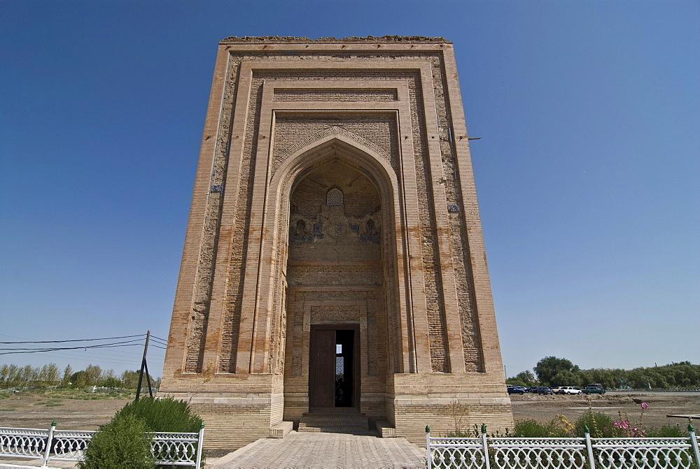 Destroyed mosque in Konye-Urgench, Turkmenistan, Central Asia