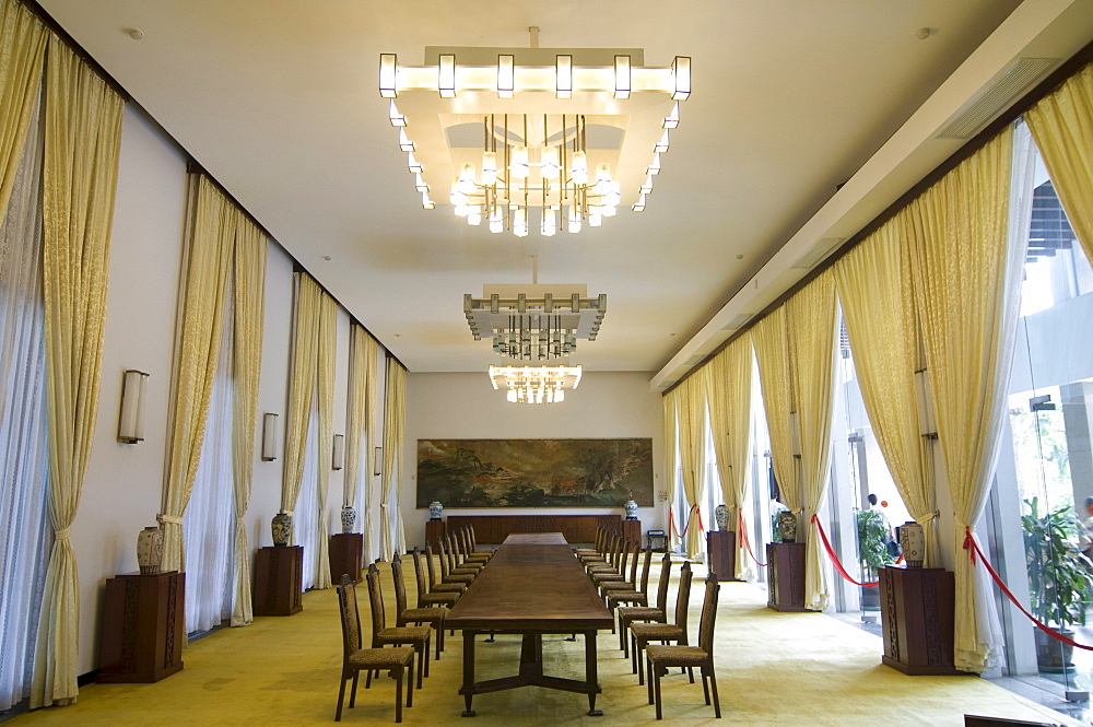 Hall in the Reunification Palace, Saigon, Ho Chi Minh City, Vietnam, Asia