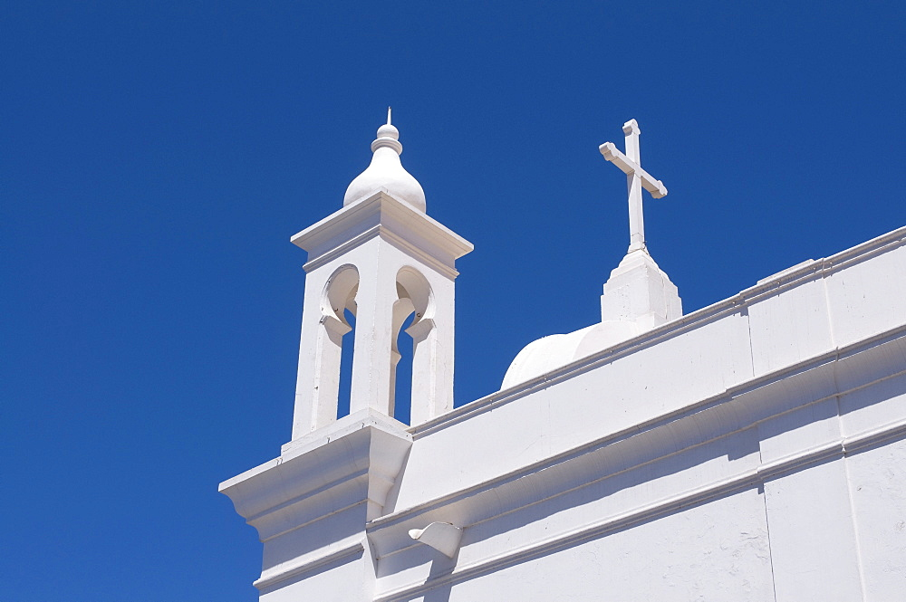 White church in San Vincente, Mindelo, Cabo Verde, Cape Verde, Africa