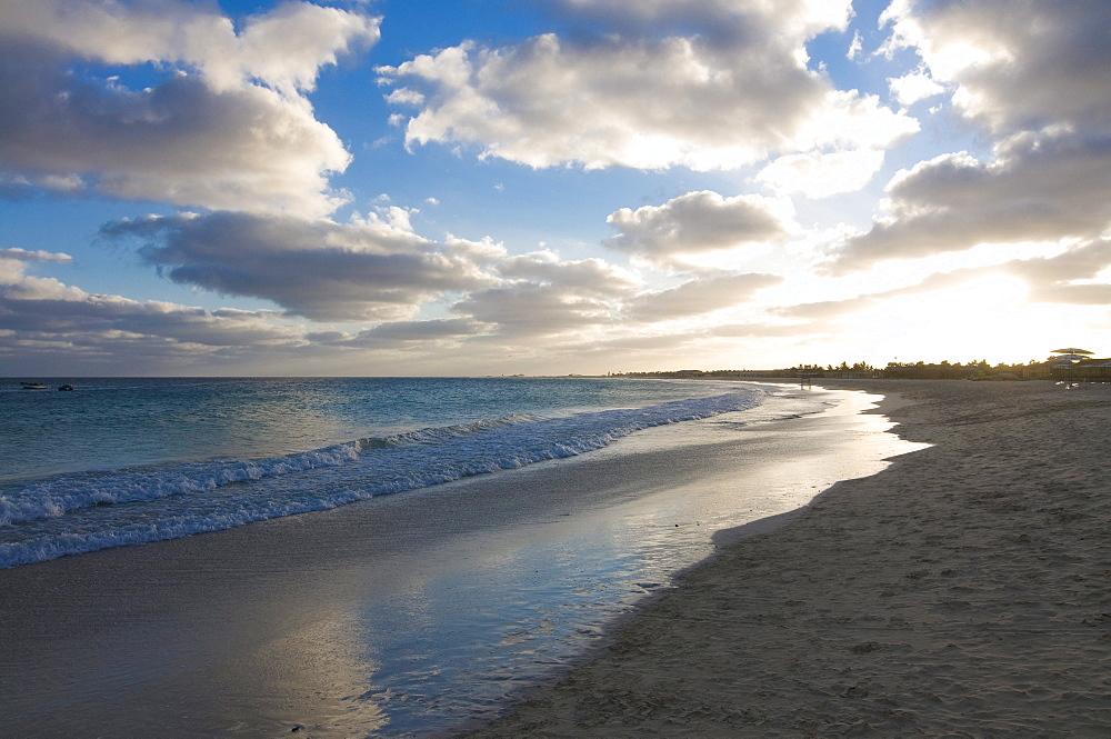 Beach, twilight, Santa Maria, Sal, Cabo Verde, Cape Verde, Africa