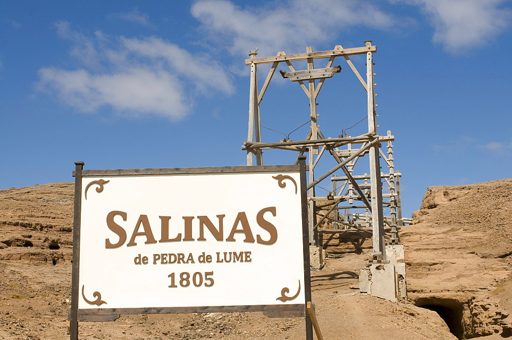 Part of salina on salty beach, Sal, Pedro Da Sal, Cabo Verde, Cape Verde, Africa