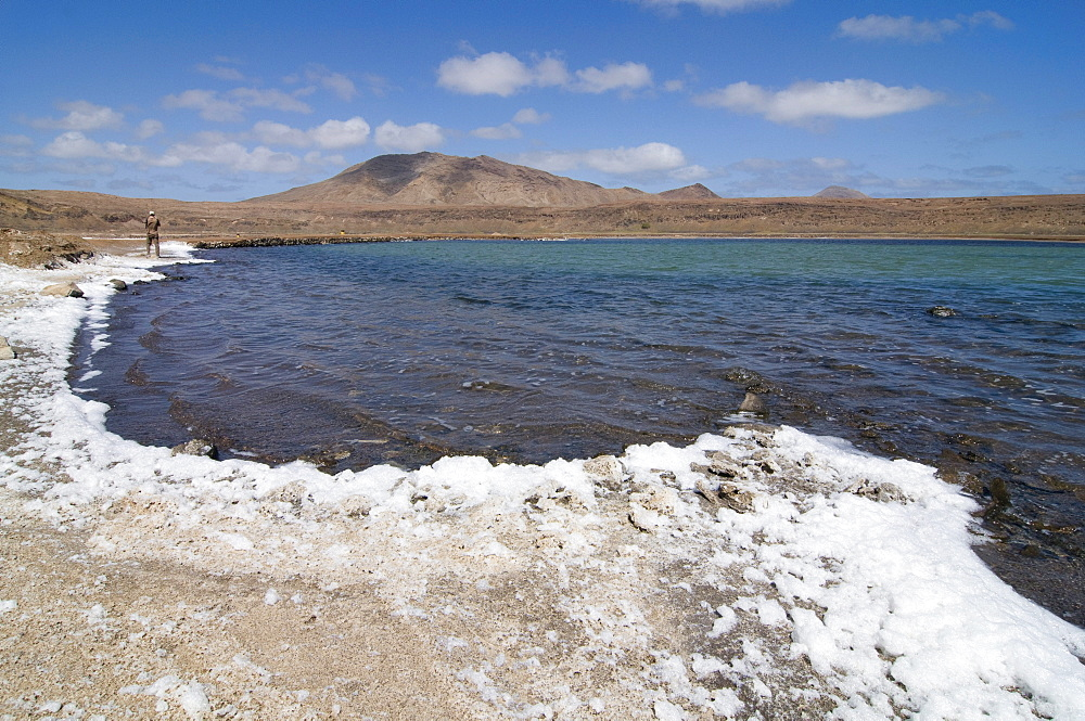 Salina with salt, Sal, Pedro Da Sal, Cabo Verde, Cape Verde, Africa