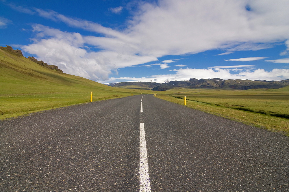 Country road, Vik, Iceland, Europe