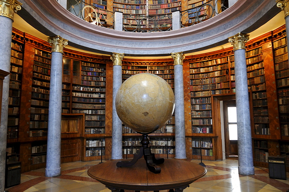 The library of Pannonhalma Archabbey, UNESCO World Heritage Site, Hungary, Europe