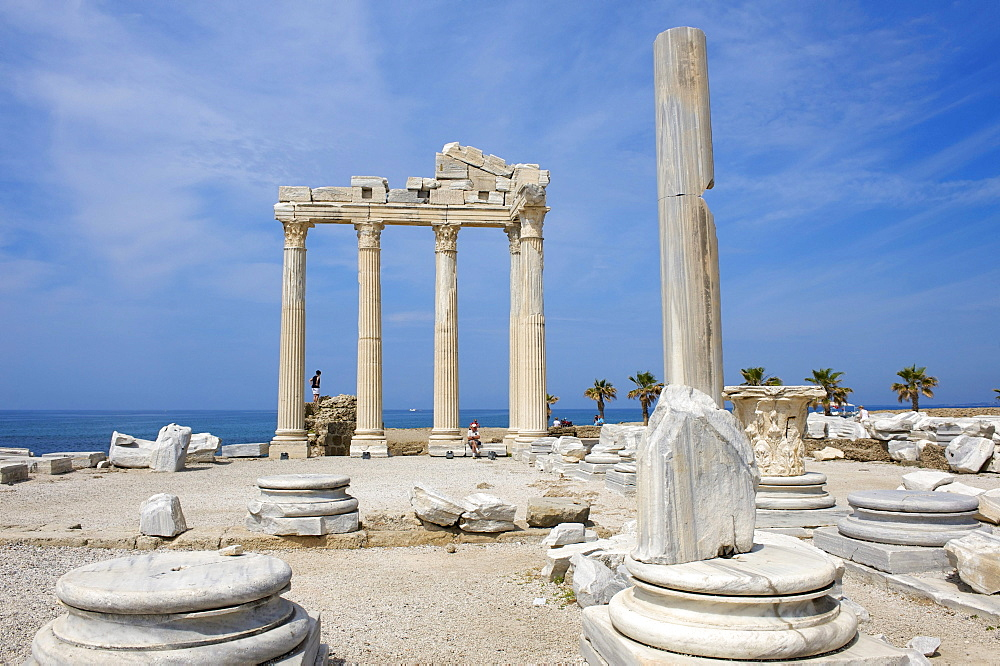 Apollo temple in Side, Turkish Riviera, Turkey, Western Asia