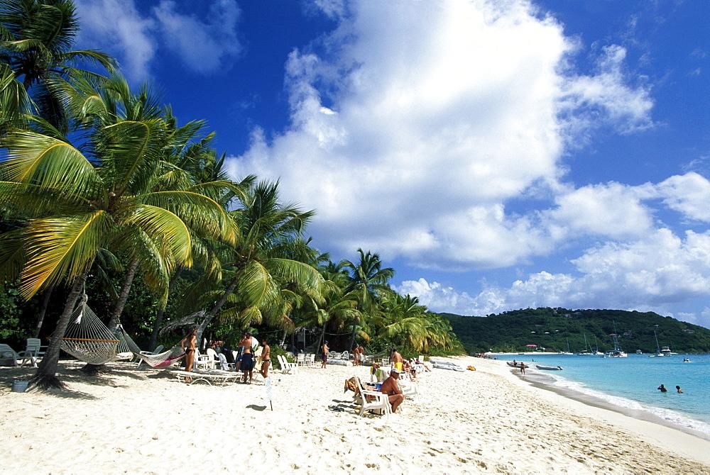 White Bay on Jost Van Dyke island, British Virgin Islands, Caribbean