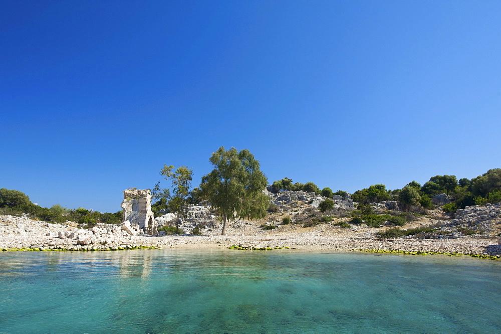 Tersane Bay, Kekova island, Lycia, southern coast of Turkey, Western Asia