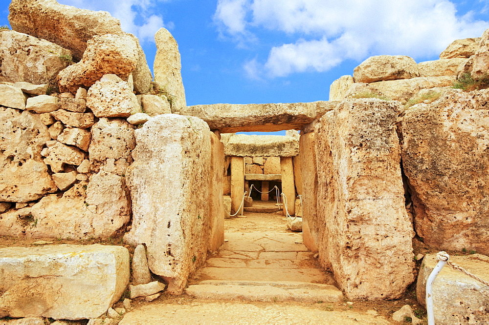 Megalithic temple on Malta, Europe