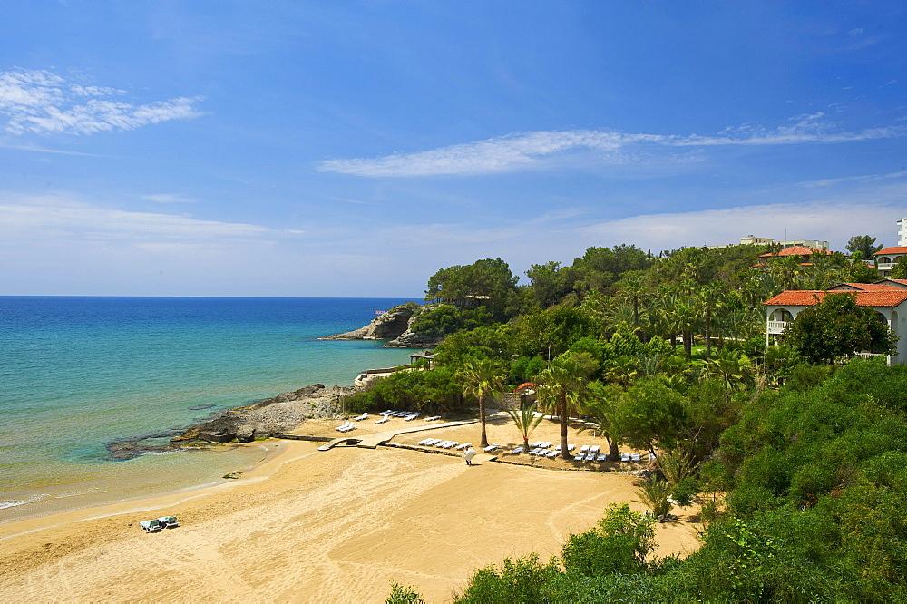 Beach of Incekum on the Turkish Riviera, Turkey