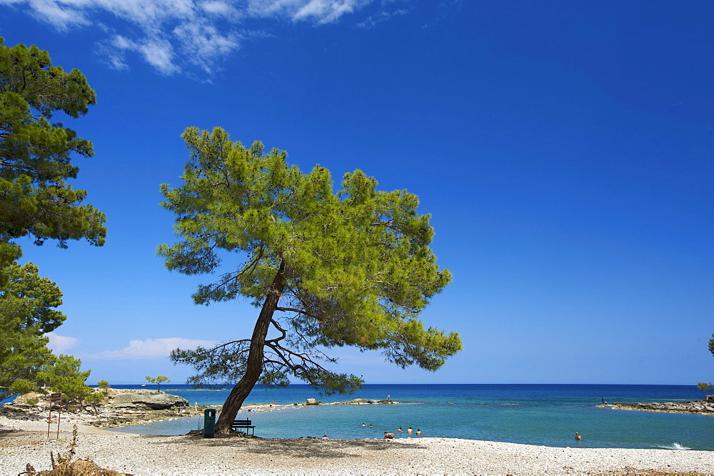 Beach of Phaselis near Kemer, Lycia, Turkish Riviera, Turkey, Western Asia