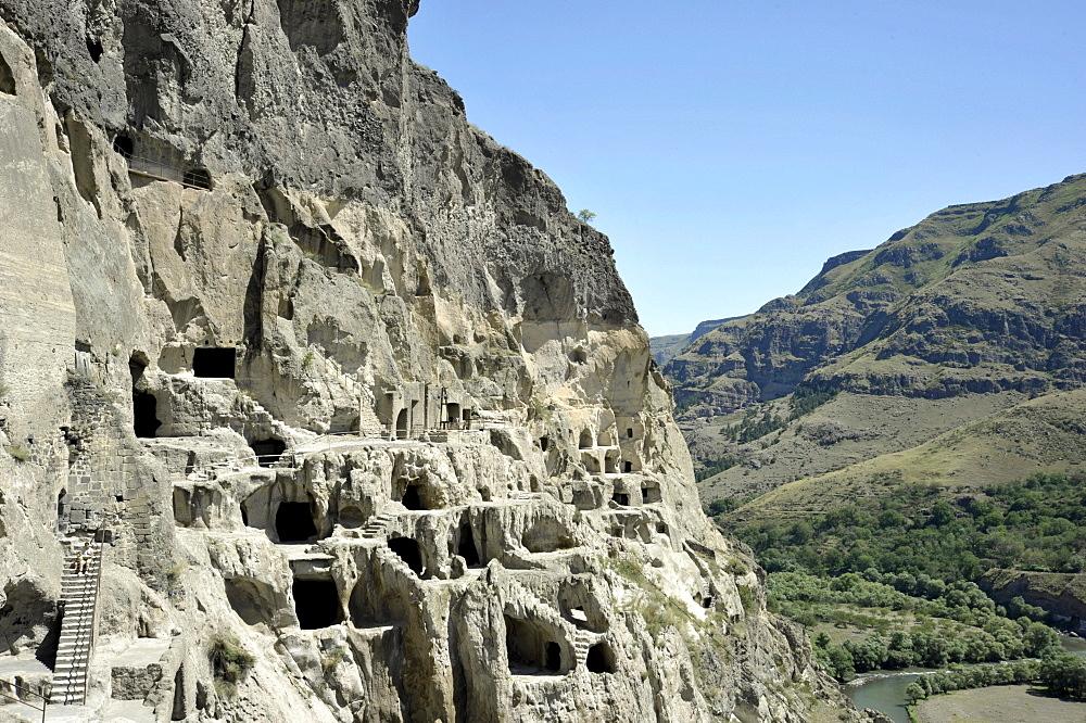 Monastery of the Caves, Vanis Kvabebi, Mtkvari River Valley, Georgia, Western Asia
