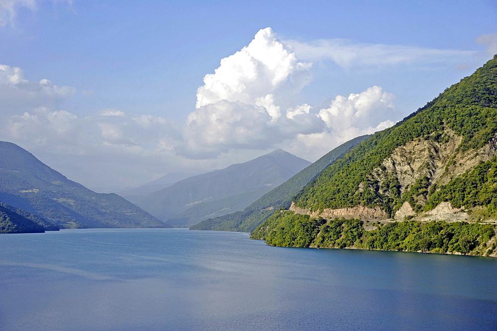 Reservoir, Aragvi River, Shinwali, Caucasus, Georgia, Western Asia