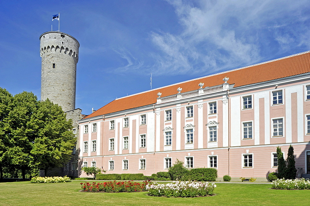 Castle of the Order of the Teutonic Knights, Tall Hermann Tower, seat of the Estonian parliament, Tallinn, formerly Reval, Estonia, Baltic States, Northern Europe - 832-126972