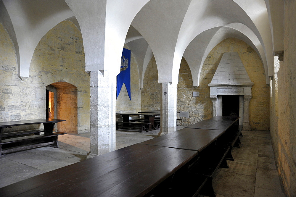 Monks' dormitory in Bishop's Castle, Castle Museum, Eagle Castle, Kuressaare, Saaremaa Island, Estonia, Baltic States, Northern Europe