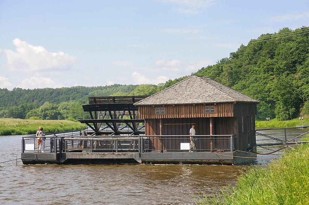 Ship mill at Grimsby, Landkreis Leipzig county, Saxony, Germany, Europe