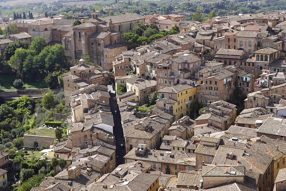 Overlooking Siena, Siena, Tuscany, Italy, Europe