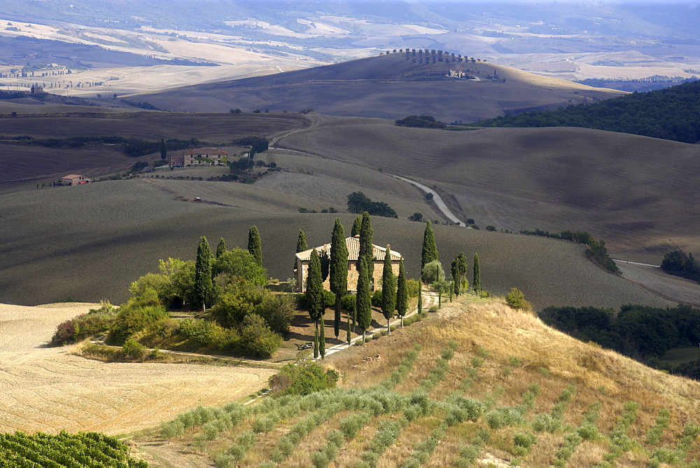 Villa Belvedere, Val d'Orcia, Tuscany, Italy, Europe