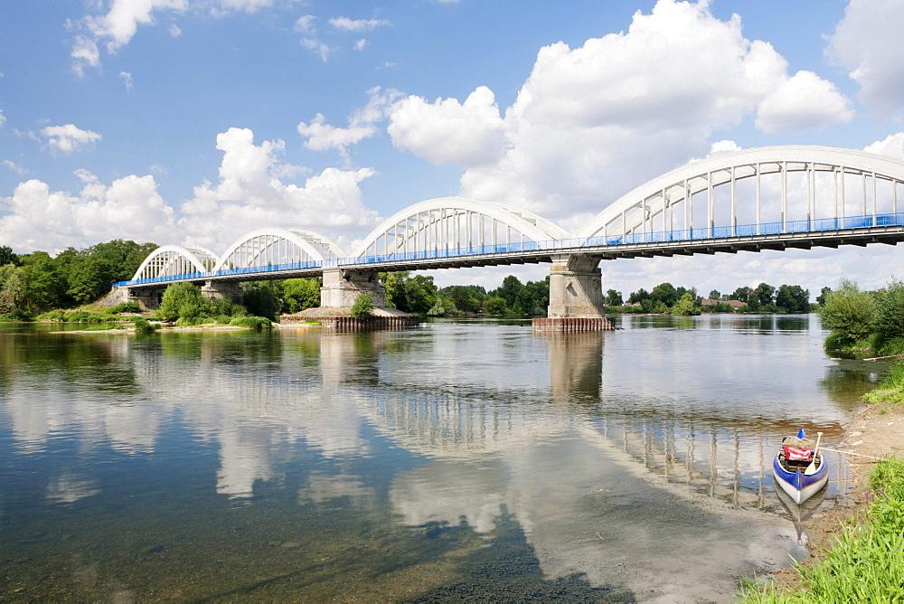 Bridge over the Loire River near Muides sur Loire, Loir et Cher, Centre region, France, Europe
