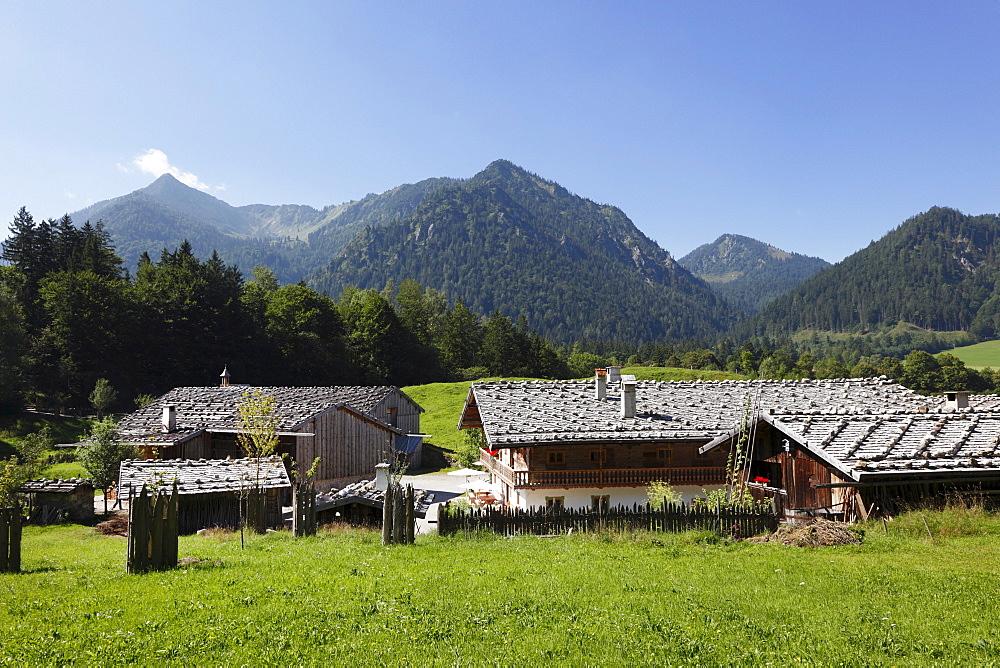 Museum village, Markus Wasmeier Farm and Winter Sports Museum, Schliersee, Upper Bavaria, Bavaria, Germany, Europe