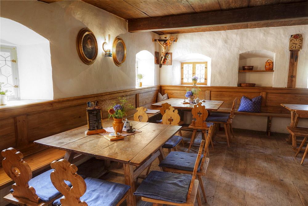 Restaurant at Wofenhof farm, Markus Wasmeier Farm and Winter Sports Museum, Schliersee, Upper Bavaria, Bavaria, Germany, Europe