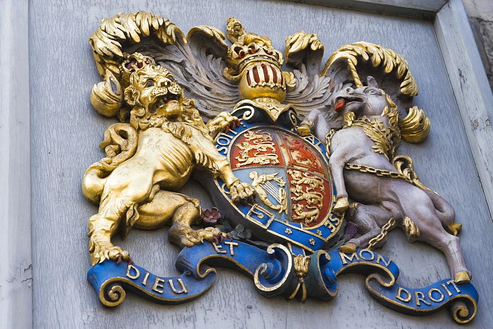 Coat of arms, Salisbury Cathedral, Salisbury, Wiltshire, England, United Kingdom, Europe