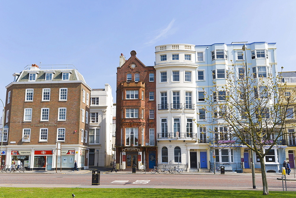 Row of houses, Old Steine, Brighton, East Sussex, England, United Kingdom, Europe