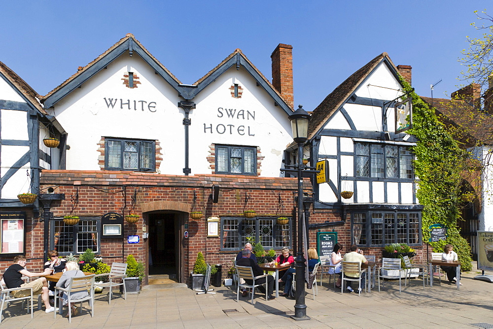 The White Swan Hotel, Rother Street, Stratford-upon-Avon, Warwickshire, England, United Kingdom, Europe