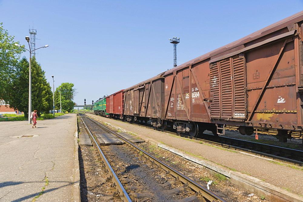 Diesel engine, Railway Station Rezekne II, Jupatovkas iela, Jupatovkas Street, Rezekne, Latgale, Latvia, Northern Europe