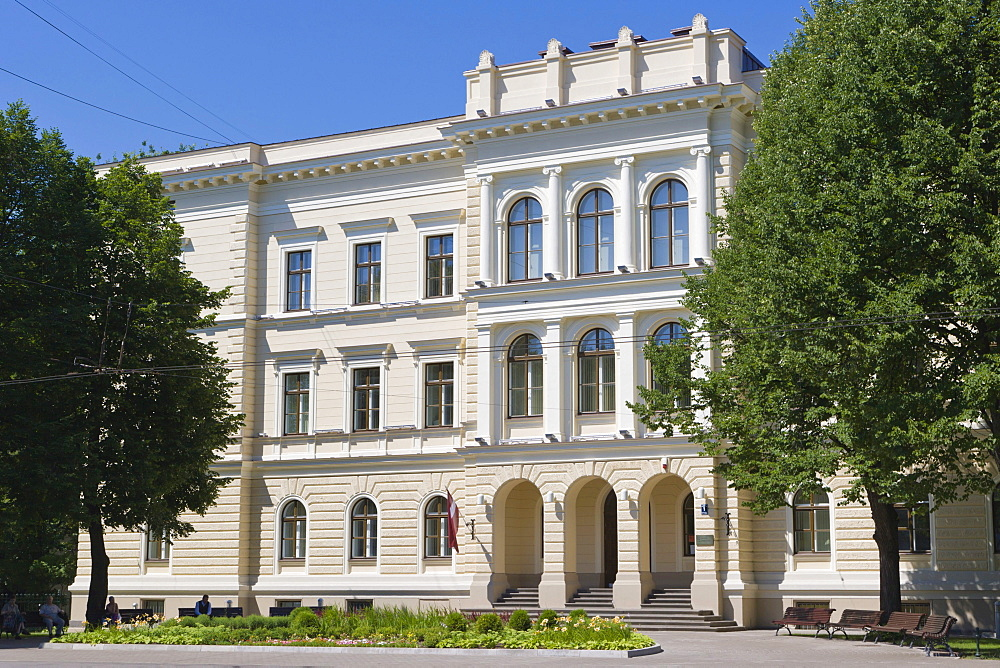 Rigas 2 vidusskola, Riga Secondary School No.2, former Science bias school, Kr Valdemara Iela, Kr Valdemara Street, Riga, Latvia, Northern Europe