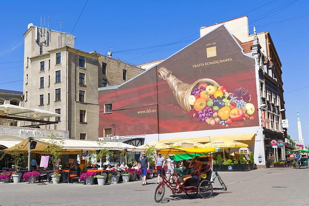 Livu Laukums, Livu Square, Kalku Iela, Kalku Street, old town, Vecriga, Riga, Latvia, Northern Europe