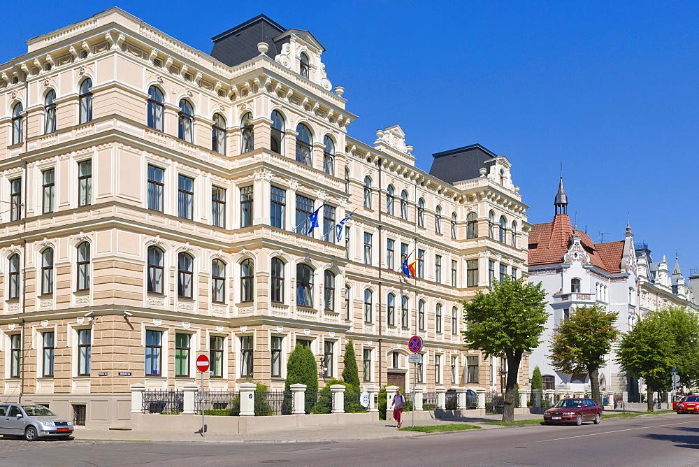 Apartment building by Viktors Lunskis, Eclecticism, Elizabetes iela, Elizabetes Street, Art Nouveau District, Riga, Latvia, Northern Europe