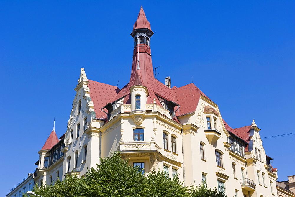 Office and apartment building by Eizens Laube, Konstantins Peksens, Romantic Art Noveau, Alberta iela, Albert Street, Art Nouveau District, Riga, Latvia, Northern Europe