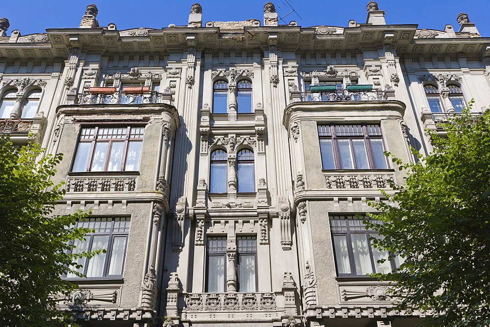 Apartment building by Mihails Eizensteins, Art Noveau, Alberta iela, Albert Street, Art Nouveau District, Riga, Latvia, Northern Europe