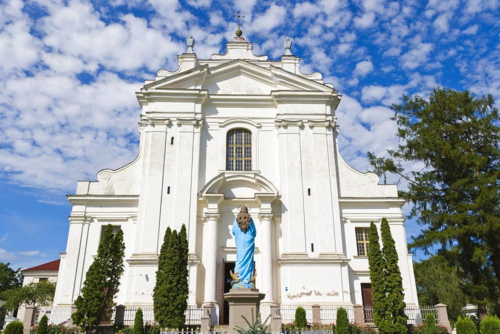 Kraslavas Sveta Ludviga Romas katolu baznica, Kraslava St Ludvig Roman Catholic Church, Baznicas iela, Baznica Street, Kraslava, Latgale, Latvia, Northern Europe