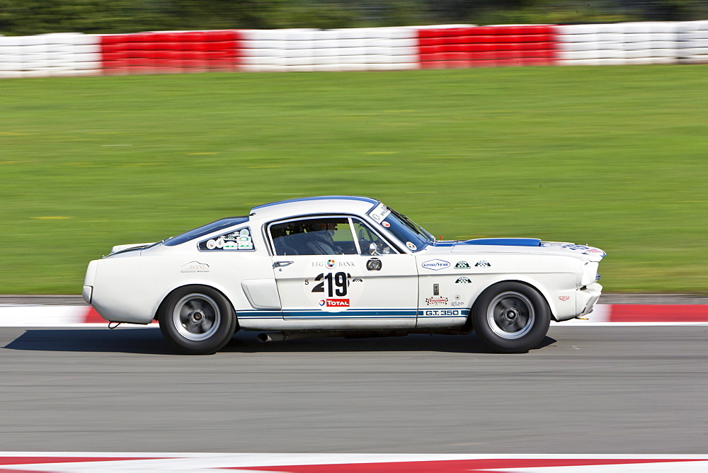 Race of post-war racing cars, Mustang, at the Oldtimer Grand Prix 2010 on the Nurburgring race track, Rhineland-Palatinate, Germany, Europe