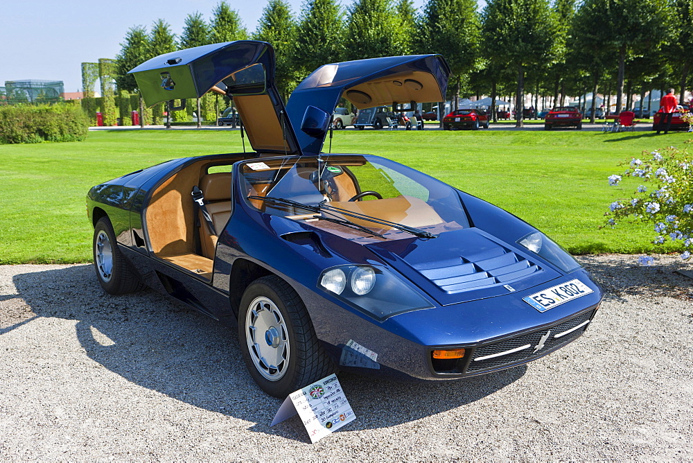 Isdera Imperator 108i Coupe, built in 1984, Germany, Classic-Gala, Concours d'Elegance in the Baroque castle gardens, Schwetzingen, Baden-Wuerttemberg, Germany, Europe