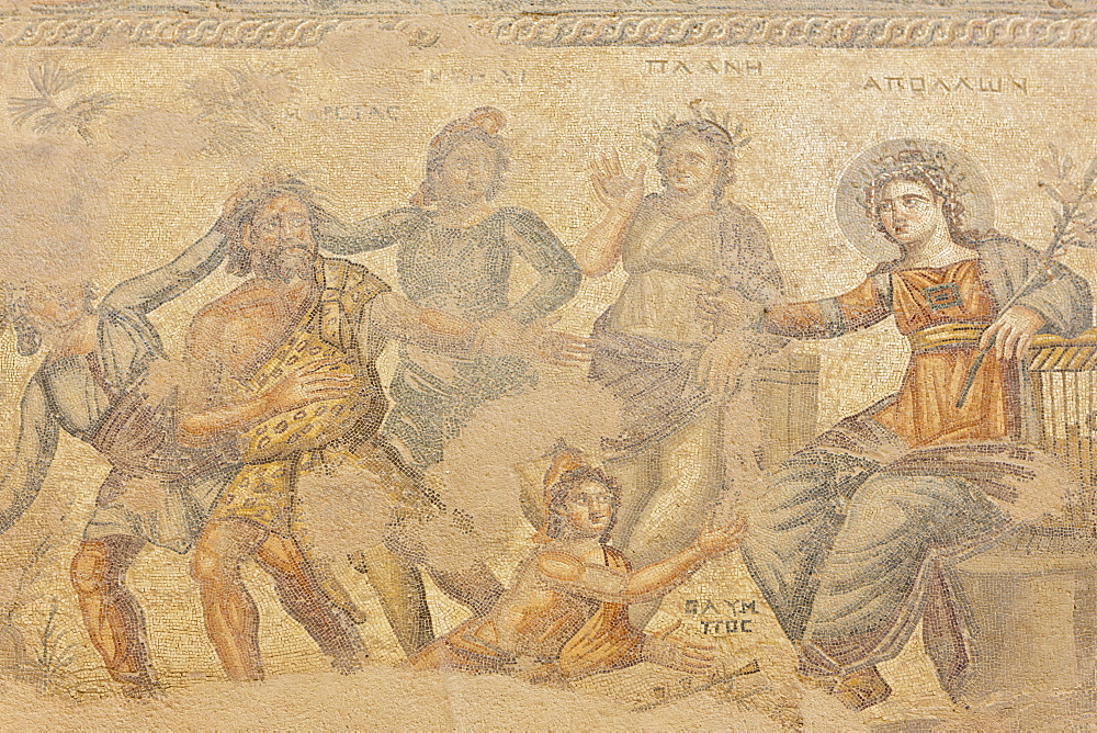Mosaic, House of Theseus, archaeological excavation site of Kato Paphos, UNESCO World Heritage site, Paphos, Cyprus