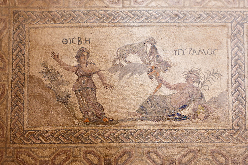 Mosaic, archaeological excavation site of Kato Paphos, House of Dionysos, UNESCO World Heritage site, Paphos, Cyprus