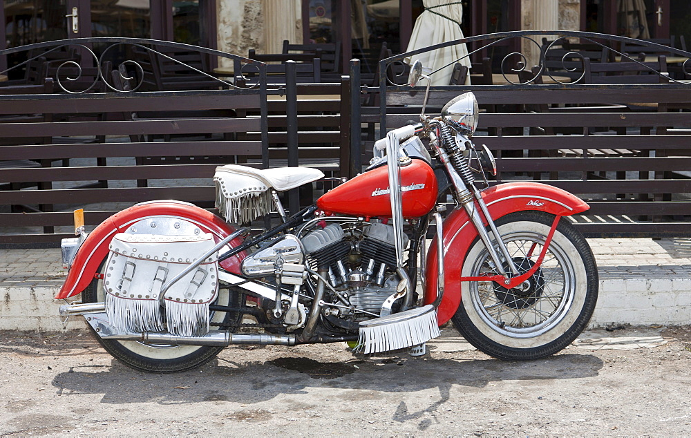 Old Harley Davidson motorcycle, Northern Cyprus, Cyprus