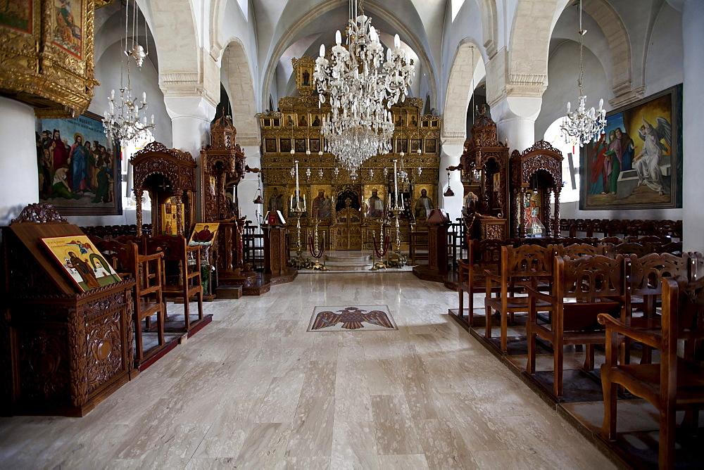 Monastery church Timiou Stavro, Omodos, Troodos Mountains, Central Cyprus