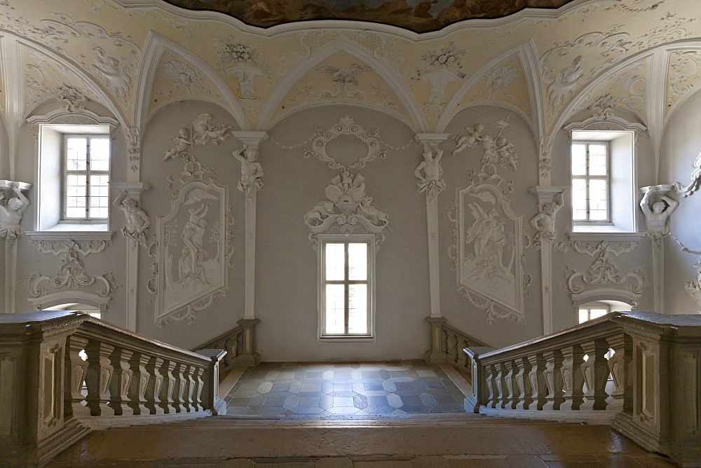 Residenz Ellingen residence, Weissenburg-Gunzenhausen district, Middle Franconia, Franconia, Bavaria, Germany, Europe