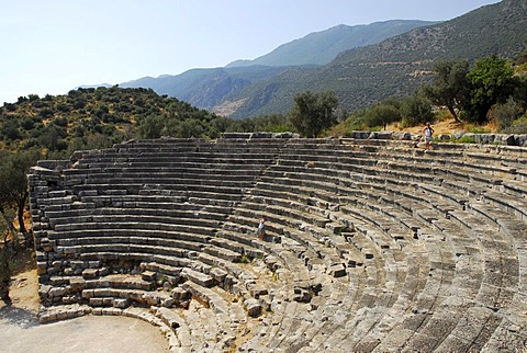 Amphitheater of Kas, ancient theater, Lycian coast, Antalya Province, Mediterranean, Turkey, Eurasia