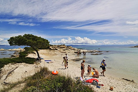 Karidi beach, Sithonia, Chalkidiki or Halkidiki, Greece, Europe