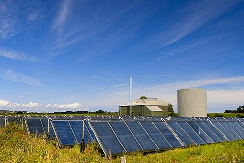 Solar district heating plant, Nordby, Samsoe, Denmark, Europe