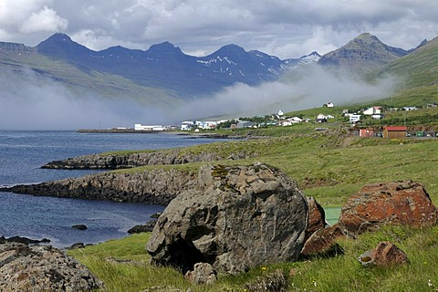 Landscape with the Eastern Fjords, Iceland, Europe