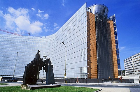Berlaymont building, housing the headquarters of the European Commission, Euro-City, Brussels, Belgium, Europe