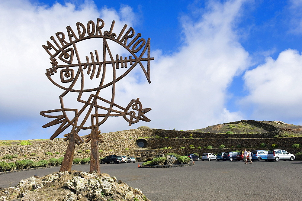 Sculpture at the Mirador del Rio, built by the artist Cesar Manrique, Lanzarote, Canary Islands, Spain, Europe