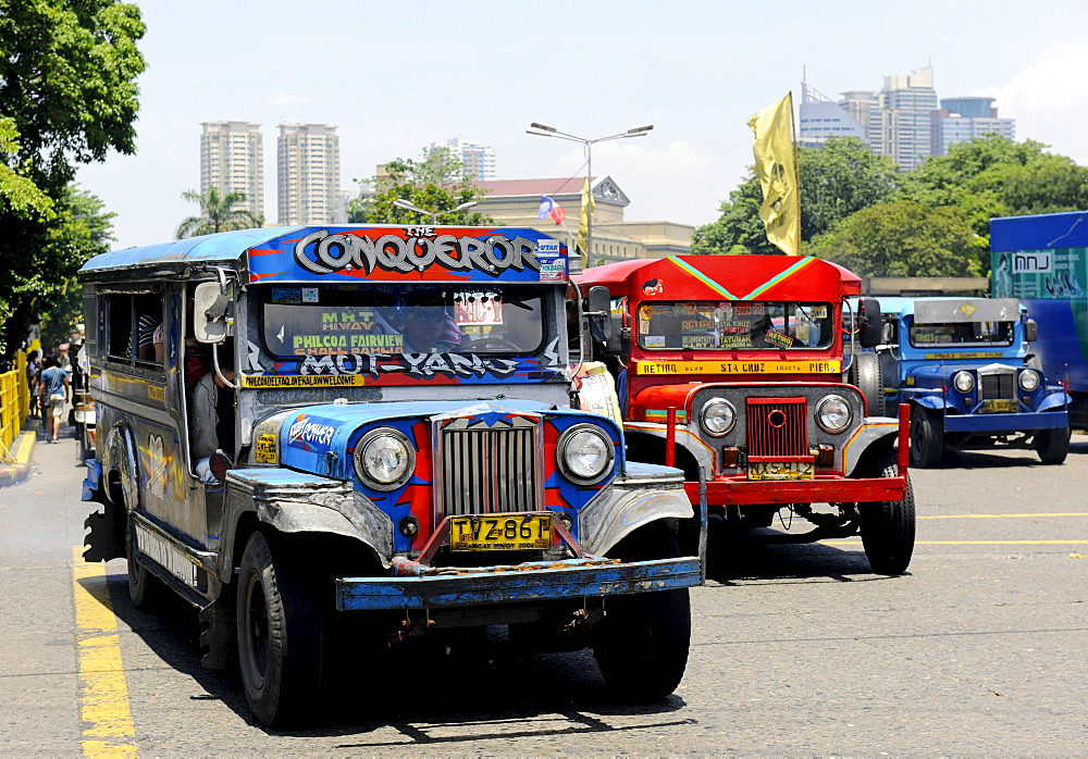 Jeepney Taxi in Manila, Philippines, Southeast Asia